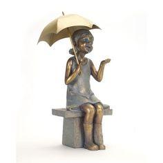 Girl with Umbrella Statue
