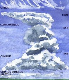 Understanding the shapes and characteristics of commonly seen clouds makes it easier to learn how to paint them.