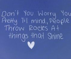 People throw rocks at things that shine via Casey Houlihan