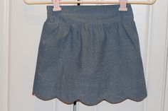 Not sure why this skirt looks dark, it is a blue chambray. Looks Dark, Badminton, Viera, Chambray, Patterns, Sewing, Craft, Skirts, Blue