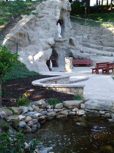 Our Lady Of Lourdes Grotto :: St. Joseph Parish and School (Mogadore, OH)