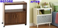 You can morph a rolling table into a stationary one. | 19 Furniture Makeovers That Prove Legs Can Change Everything
