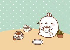 Кавайняшка: Кролик Моланг и еда