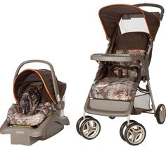 Cosco Infant Stroller Lift Car Seat Travel System Portable Realtree Orange Camo