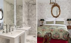 Marble bathroom ond opulent finishes at the Côtes de Nuit. #ParisPerfect