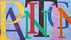 Michael Craig-Martin, Untitled (painting), Acrylic on Aluminium. Courtesy of Gagosian Gallery. Tate St Ives, Michael Craig, Gagosian Gallery, Food Artists, Paint Types, Alphabet Art, Wall Drawing, A Level Art, Famous Art
