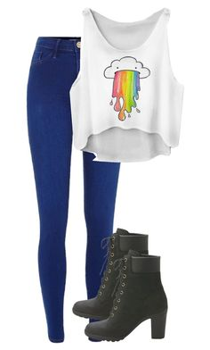 Untitled #104 by jayla-gore on Polyvore featuring polyvore, fashion, style, River Island and Timberland