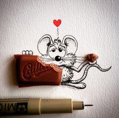 Les drôles de petits dessins de l'artiste Loïc Apreda