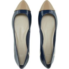 Carvela Lila Flat Shoe With Toe Cap ❤ liked on Polyvore