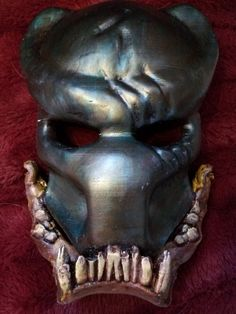 Predetor #mask, Berserker #Mask, #Cosplay, 3D printed, and hand painted,  View more on the LINK: 	http://www.zeppy.io/product/gb/3/251376142/