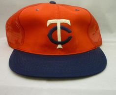 Vintage 1980's Sports Specialties Minnesota Twins Snapback Mesh Trucker Hat #SportsSpeciaties #MinnesotaTwins