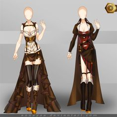 [Closed]Adoptable Outfit (Steampunk 3-4) by Anneysa.deviantart.com on @DeviantArt