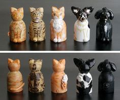 ADD ON Animal Pet Dog Cat for wooden peg doll by CustomCao on Etsy