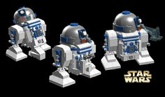 LEGO Ideas - Chibi Lego builds ( CHIBO'S ) STAR WARS - R2D2, C3PO and Leia with Salacious Crumb