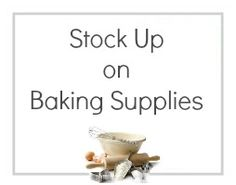 Around Christmas time we see baking supplies go on sale.  Stock up on them now because we won't see it all go on sale again until Easter!