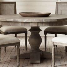 Restoration Hardware 17th C Monastery Round Dining Table