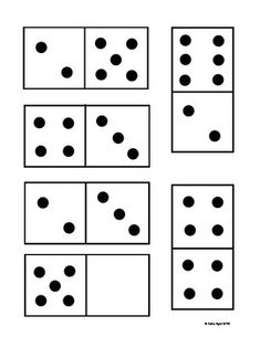 DOMINO CARDS FOR MATCHING AND GAMES - FREEBIE!  Great set of cards for lots of math games!