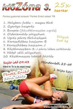 IdőZóna 3. Fitness Tips, Health Fitness, Insanity Workout, Burpees, At Home Workouts, Abs, Challenges, Diet, Sports