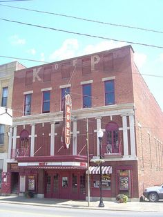 Robey Theater- Spencer WV~The Robey Theater opened in 1907 as a vaudeville house. In 1908 the Robey began exhibiting motion pictures. The Robey is still open today and claims to be the oldest continuously running movie theater in the U.S.