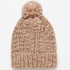ZARA KNIT WINTER HATS BRAND NEW ZARA KNIT WINTER HAT BRAND NEW W/ ORIGINAL TAGS COLORS - CAMEL Zara Accessories Hats