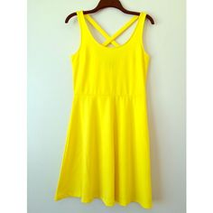 Plain Yellow Dress from H&M Pre-loved. Used it once. For questions about this dress, comment below and I'll try to get to ASAP. NO TRADES H&M Dresses Midi