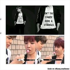 Do what the T-shirt say!.. But not when it's an attractive Korean who offers it to you kekekeke ;3