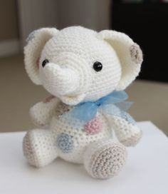 Amigurumi Crochet Pattern - Peanut the Elephant