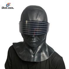 SNAKE Eyes FULL HEAD MASK Gi Joe Cobra parodia Fancy Dress Costume Di Halloween