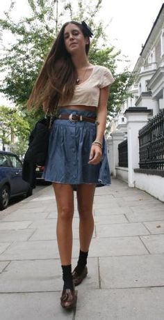 54c35ebfe34 Extend that little shirt to a normal length that s tucked into the skirt  and it d be cute! Hannah · Clothes