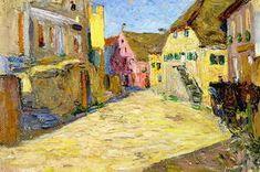Wassily Kandinsky. Pink Landscape, 1903