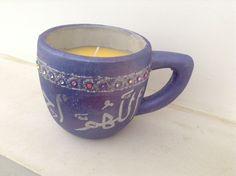 Purple Candle Mug by LetsLotus on Etsy