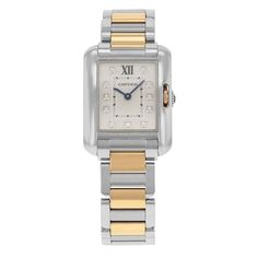 Cartier Tank Anglaise WT100024 Steel & 18K Yellow Gold Quartz Ladies Watch