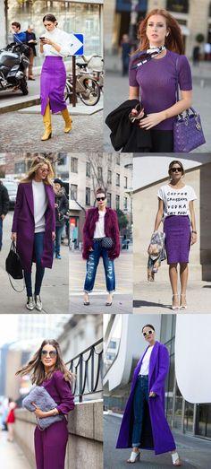 f41d13f62 ultra violet cor do ano 2018 pantone como combinar Coleções De Outono