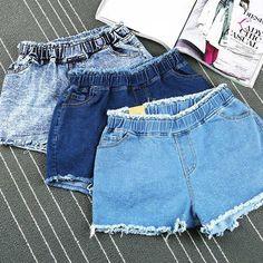 Ripped эластичный пояс джинсовые шорты женщины vintage джинсы короткие femme ретро бурлящие штаны на лето женщин короткий ан жан талии haute купить на AliExpress