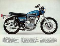 YAMAHA Brochure XS650 XS650C 1976 Sales Catalog Catalogue REPRO
