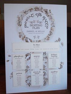 Elvish / Lord of the Rings Wedding Seating Plan
