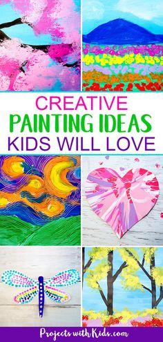 For Kids unique art ideas # für kinder einzigartige kunstideen Kids Painting Projects, Easy Painting For Kids, Painting Activities, Drawing For Kids, Projects For Kids, Diy For Kids, Art Projects, Toddler Painting Ideas, Creative Painting Ideas