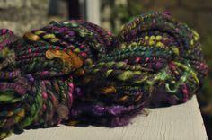 Handspun Tailspun Art Yarn chunky double ply by Innerspiral, £56.00