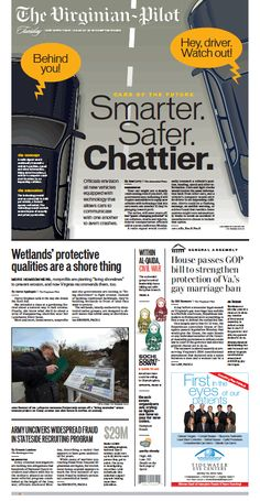 The Virginian-Pilot's front page for Tuesday, Feb. 4, 2014.