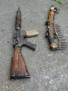 These poor things have seen better days. The bolt action has been retired as a rake, lol.