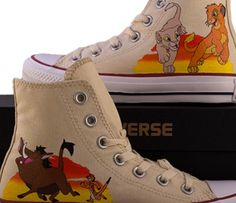 The lion king painted shoes
