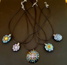 e7d7a8515c7c Mandala necklace hand painted etsy shop very nice gift  Mandalas