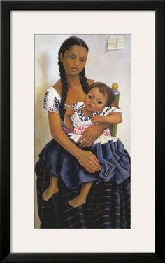 Delfina Flores and her Niece Modesta Posters by Diego Rivera at AllPosters.com