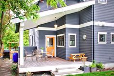 Exterior+Paint+Color+Schemes+Gray | With the exterior being shake shingles, we decided to paint it after ...