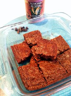 Paleo Almond Butter Zucchini Bars  ¾ cup creamy almond butter 1 heaping cup grated zucchini (1 medium zucchini) 1 egg ¼ cup pure maple syrup (or honey) 1 tsp vanilla ¾ tsp baking soda 2 tsp cinnamon ½ tsp nutmeg ¼ tsp salt
