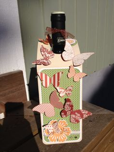 Scrapbooking bottelcard butterfly
