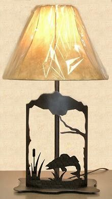 The Big Red Neck Trading Post - Wildlife Decor Walley Metal Art Table Lamp, $110.99 (http://www.thebigrednecktradingpost.com/products/wildlife-decor-walley-metal-art-table-lamp.html)