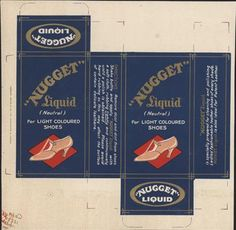 Old Shop Stuff   Old-shop-packaging-printers-blank-Nugget-liquid-shoe-cleaner-polish for sale (21689)