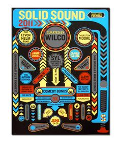 Solid Sound 2011 Pinball Poster