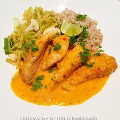 Edels Mat & Vin: Paprikabakt kylling med grønnsaker og fullkornsris (Grete Roede) Wok, Thai Red Curry, Ethnic Recipes, Woks